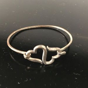 James Avery Heart to Heart Hook On Bracelet